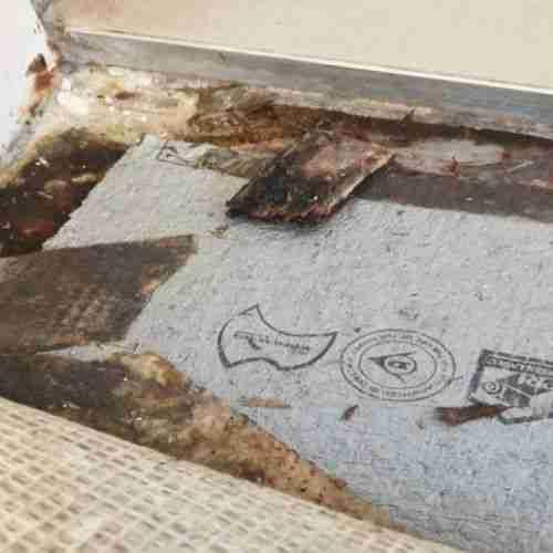 Leaky Shower Base water damage to carpet